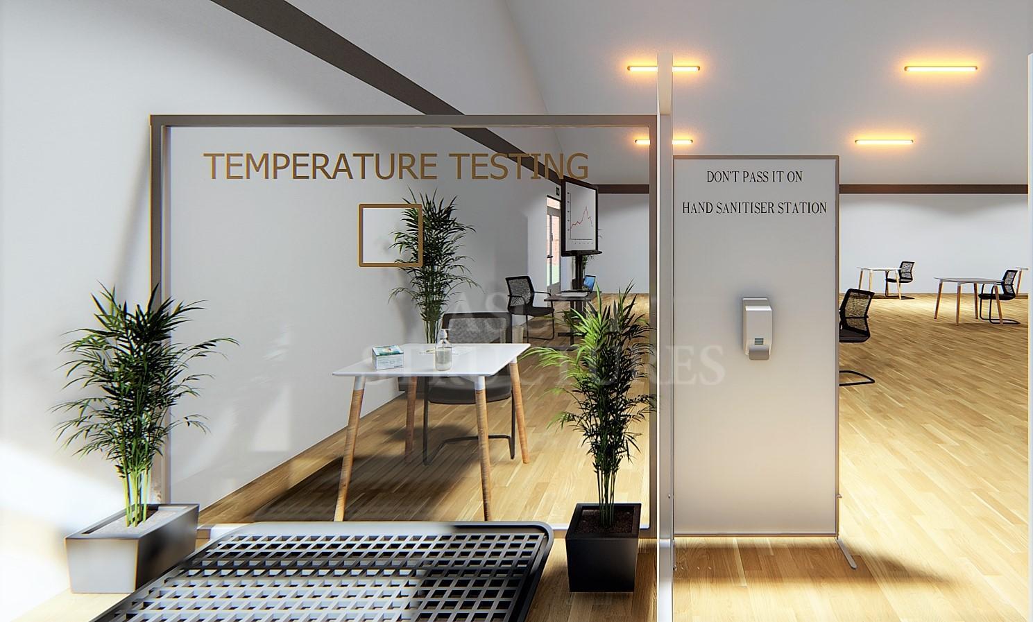 Temperature testing station